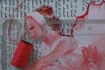 """Colección""""Aire&Plastik"""" Collage papel, plástico y algodón."""